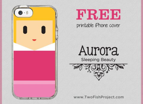 Free Sleeping Beauty Aurora iPhone cover printable