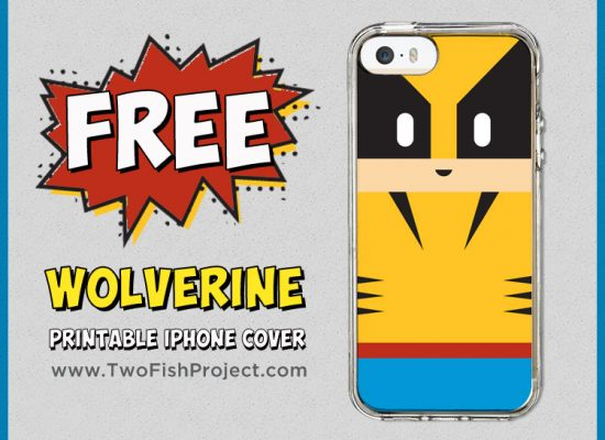 Free printable Wolverine iPhone case insert