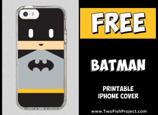 Free printable Batman iPhone cover