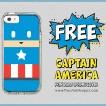 download a free Captain America printable iPhone cover