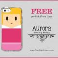 Free Sleeping Beauty Aurora iPhone cover printable